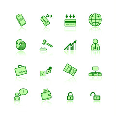 green business icons