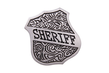 vintage toy sheriffs badge