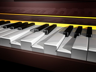 piano keyboard vii