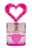 bottle of perfume, aroma like a heart from flowers poster