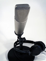 studio mic with headset