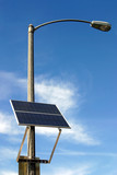 solar panel on the pole poster