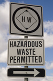 hazardous waste sign poster