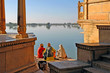 india, rajasthan, jaisalmer: the lake near jaisalmer - 2574209