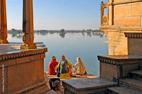Papiers peints Inde india, rajasthan, jaisalmer: the lake near jaisalmer