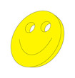 canvas print picture - smiley