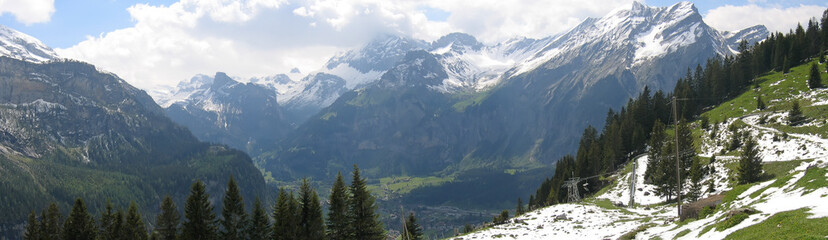 kandersteg valley, alps, switzerland, panorama