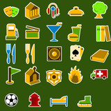 city objects icon set poster