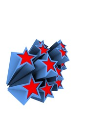 blau rote sterne