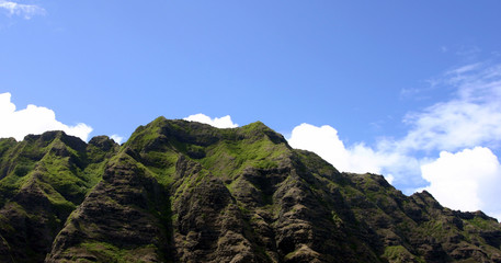 green mountain at oahu