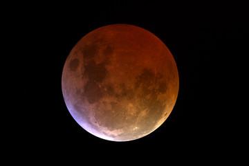 eclisse di luna: finale della totalità