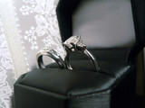 wedding ring and band - diamond and platinum in case 2 poster