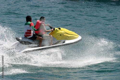 Spoed canvasdoek 2cm dik Water Motorsp. jet skier racing