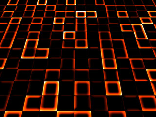 neon tile background