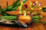 Fototapety amber candle