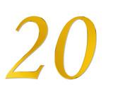 zwanzig in gold - golden twenty poster
