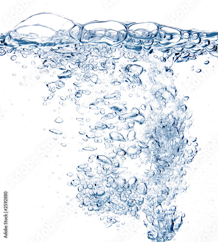 Poster Water planten water bubbles