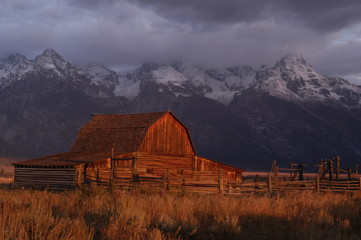 abandoned barn near the grand tetons