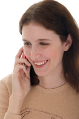 casual woman talking on cell phone 1