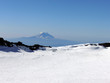 view of mt adams from the summit of mt rainier