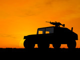 vehicle over sunset poster
