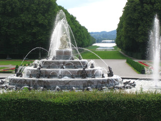 fountain at herrenchiemsee castle