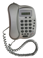 grey metallic telephone