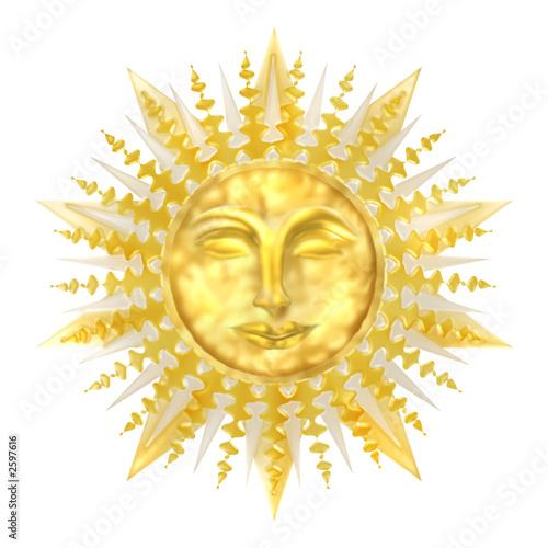 sun gold metallic mask