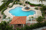 outdoor heated pool at florida resort poster