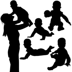 silhouettes - baby 3