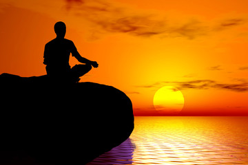 yoga - sunset meditation