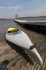 sea kayak at the dock
