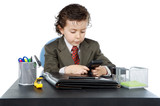 adorable future businessman in your office poster