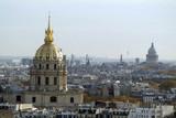 dome des invalides et pantheon depuis la tour eiffel poster