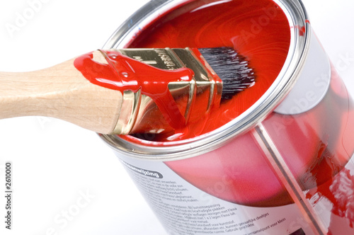 red paint tilted