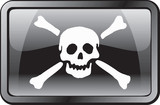 pirate flag icon poster