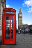 Fototapety phone box and big ben