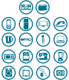 home related electronic apparatus icon set poster