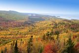 autumn landscape along lake superior shore poster