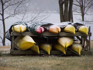 boats put up for the winter