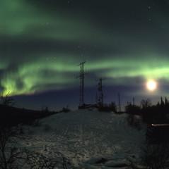 moon aurora and antennas