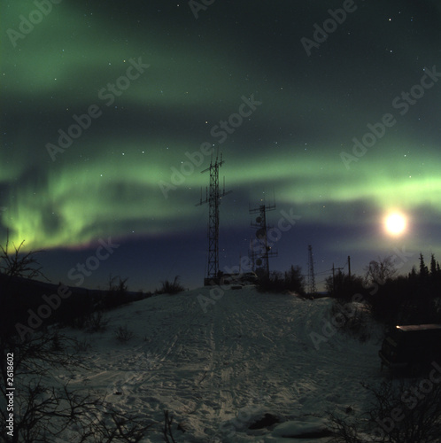 moon aurora and antennas