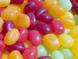 multi colored jelly beans poster