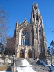 front view of  catholic cathedral in