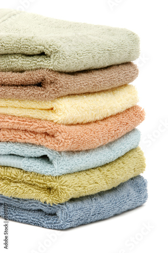 stacked up spa / bath towels