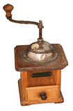 old mechanical coffee grinder. poster