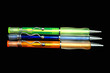 three colourful pens
