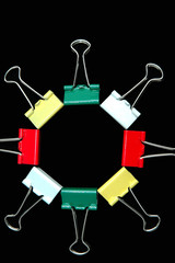 colourful bulldog clips1