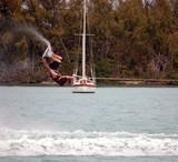 wake board invert trick poster