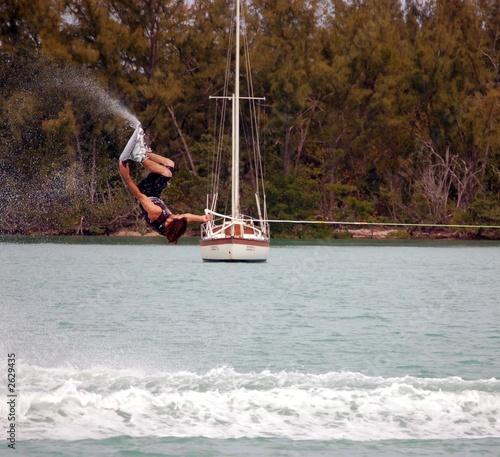 wake board invert trick